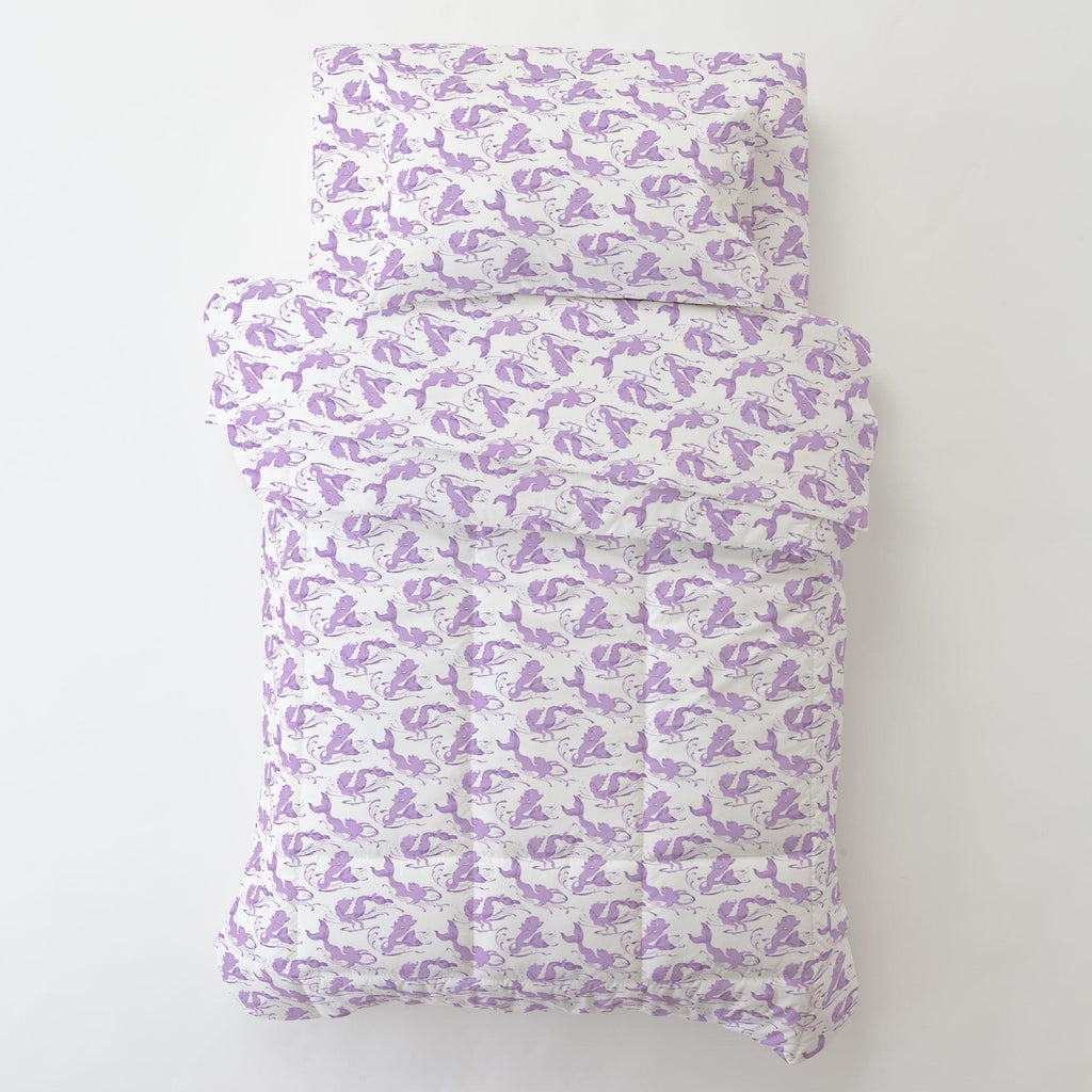 Product image for Purple Swimming Mermaids Toddler Sheet Bottom Fitted