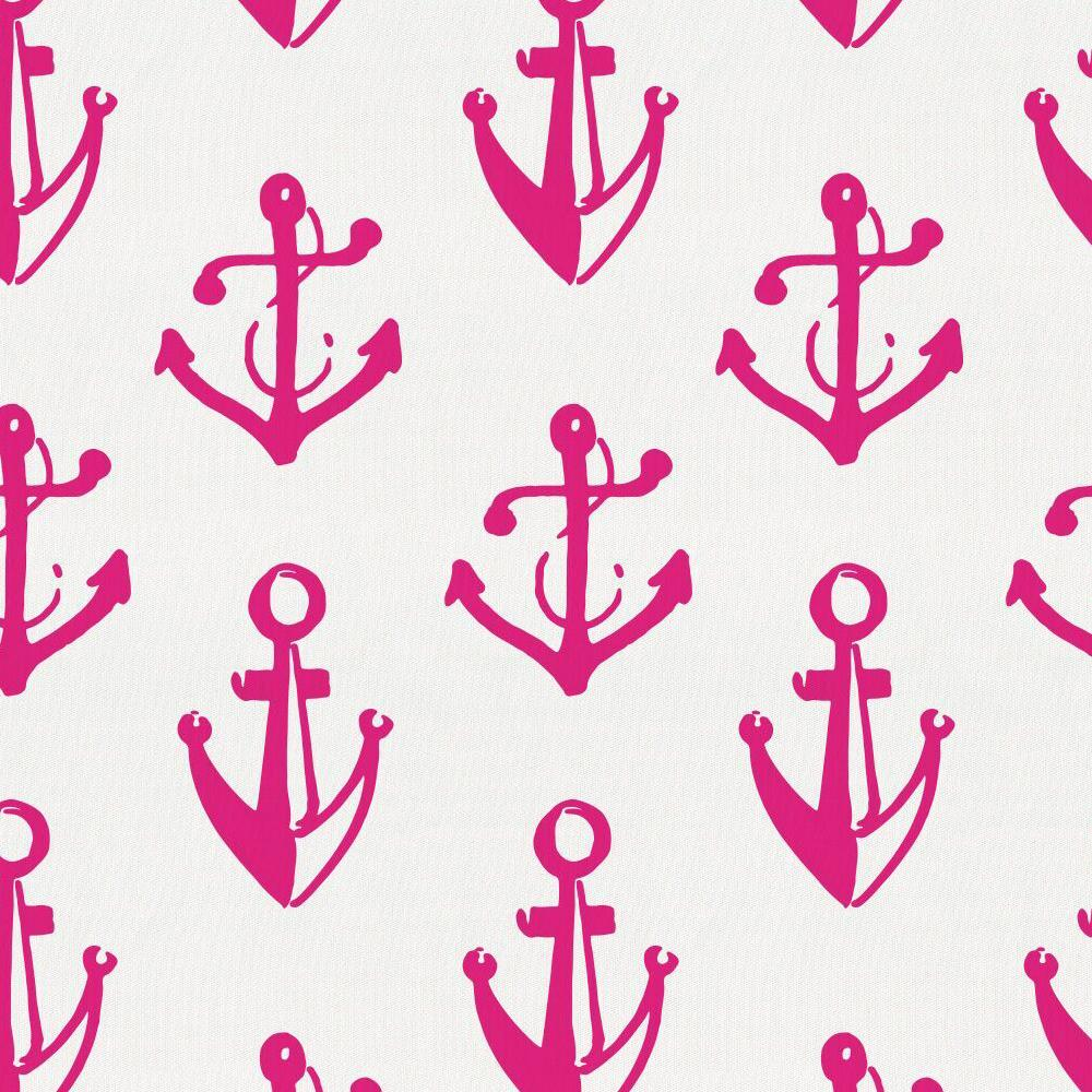 Product image for Fuchsia Anchors Crib Skirt Gathered