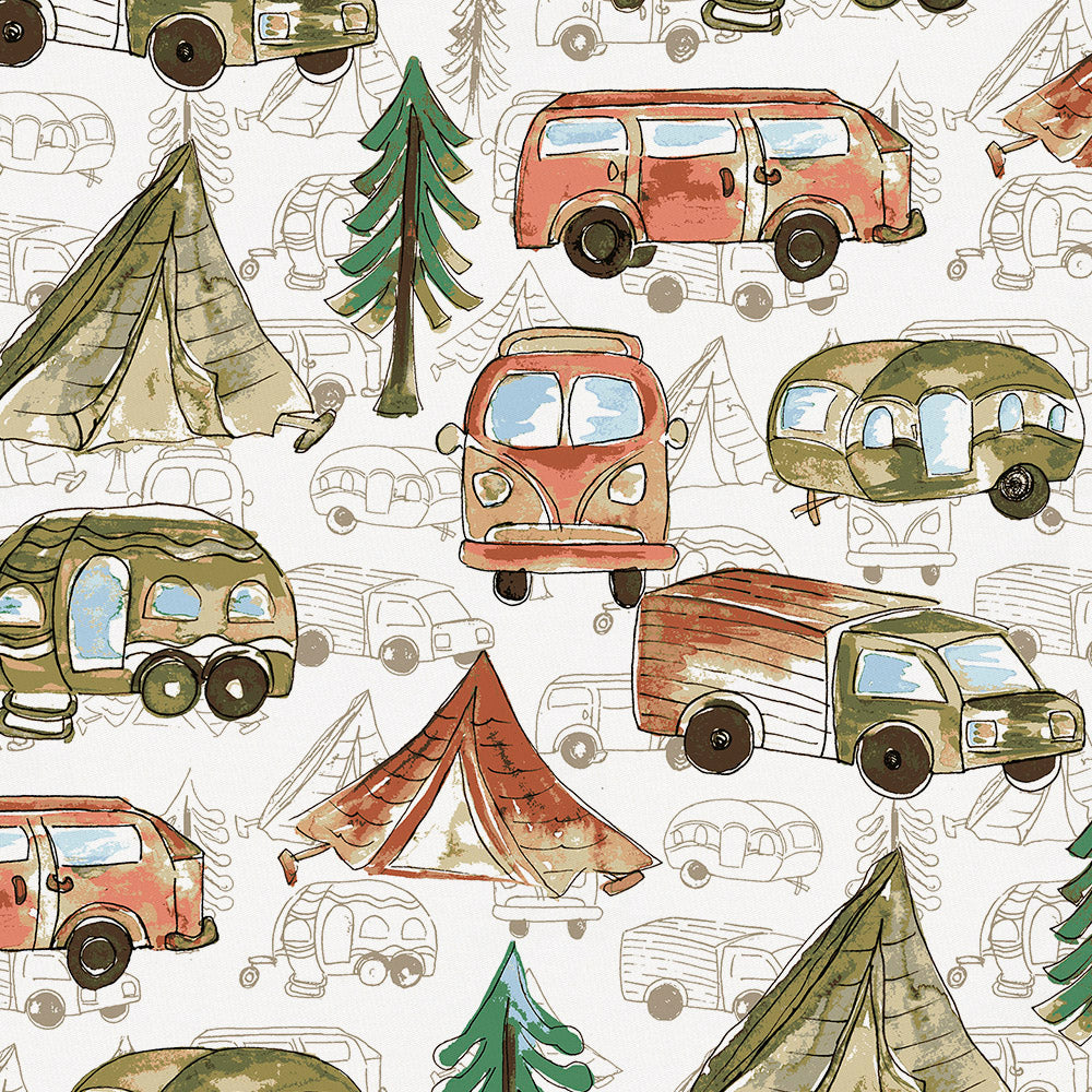 Product image for Gone Camping Mini Crib Sheet