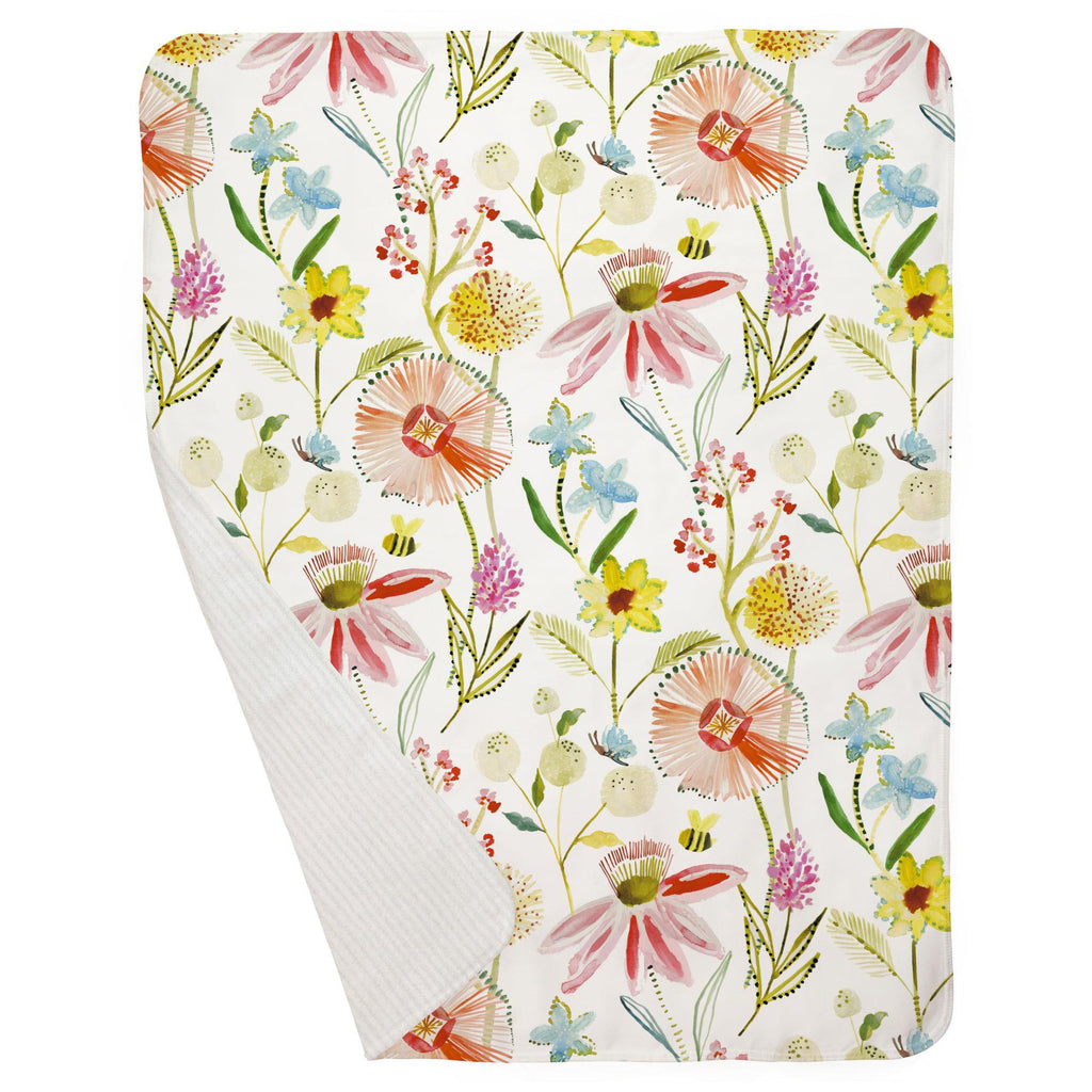 Product image for Watercolor Springtime Baby Blanket