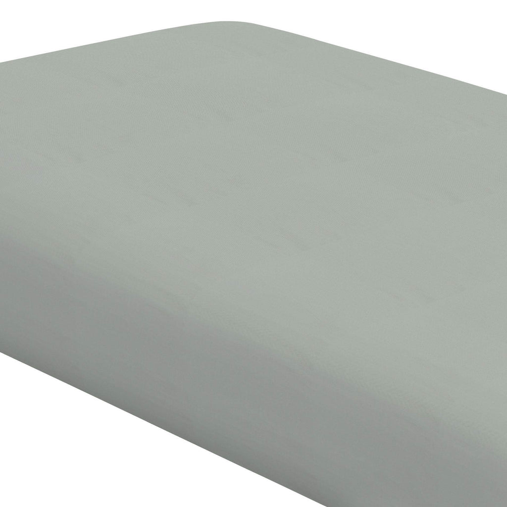 Product image for Solid Cloud Gray Crib Sheet