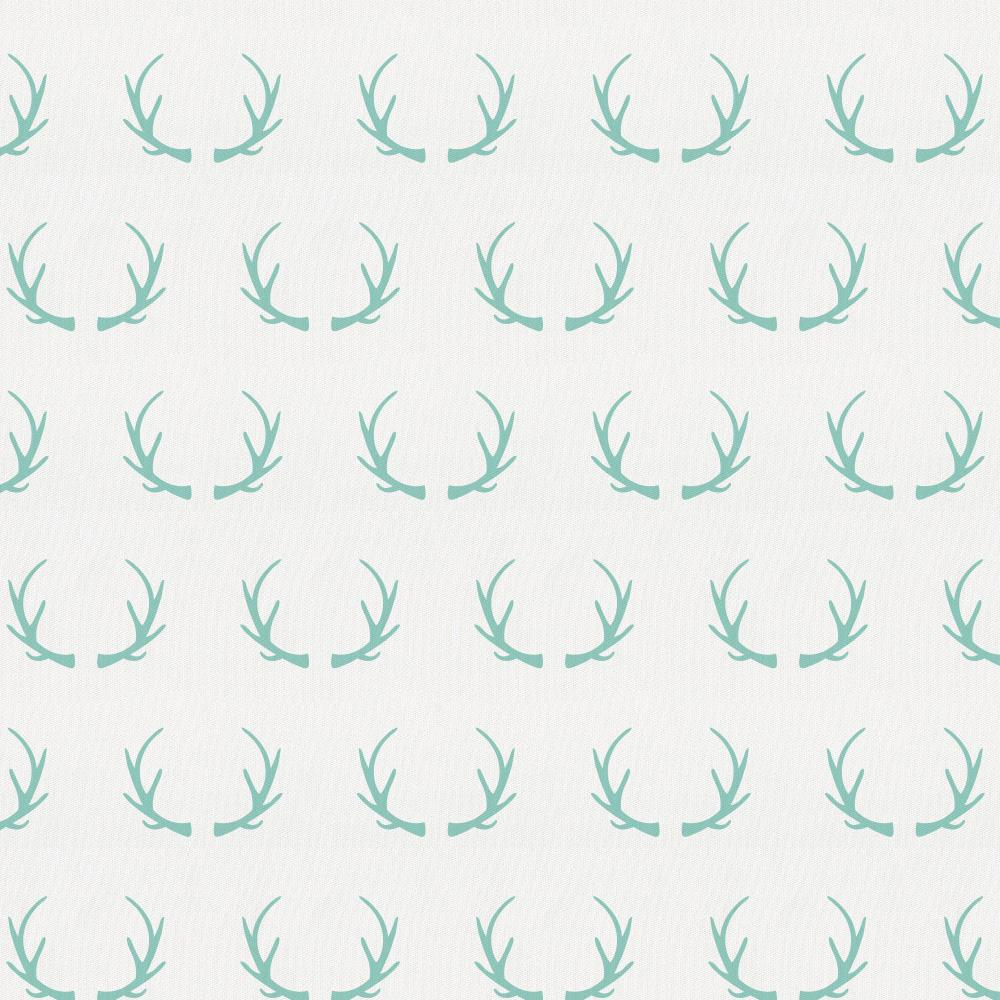 Product image for Mint Antlers Crib Skirt Gathered