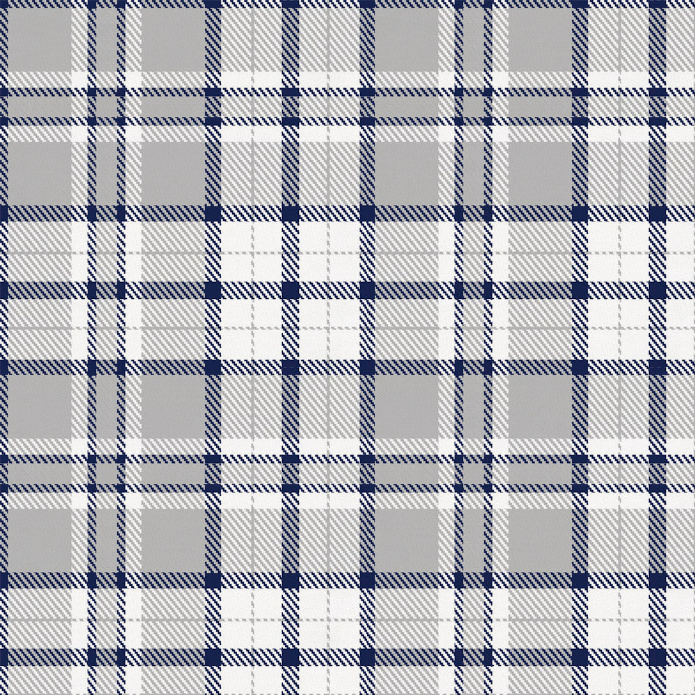 Product image for Navy and Gray Plaid Crib Skirt Single-Pleat