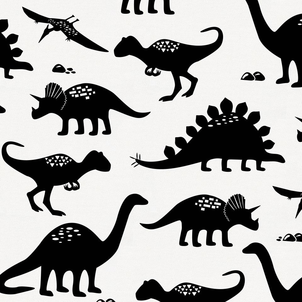 Product image for Onyx Dinosaurs Crib Skirt Single-Pleat