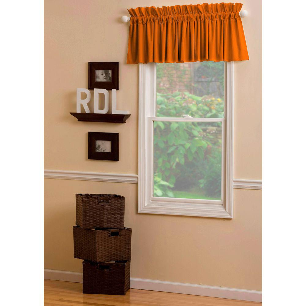 Product image for Solid Orange Window Valance