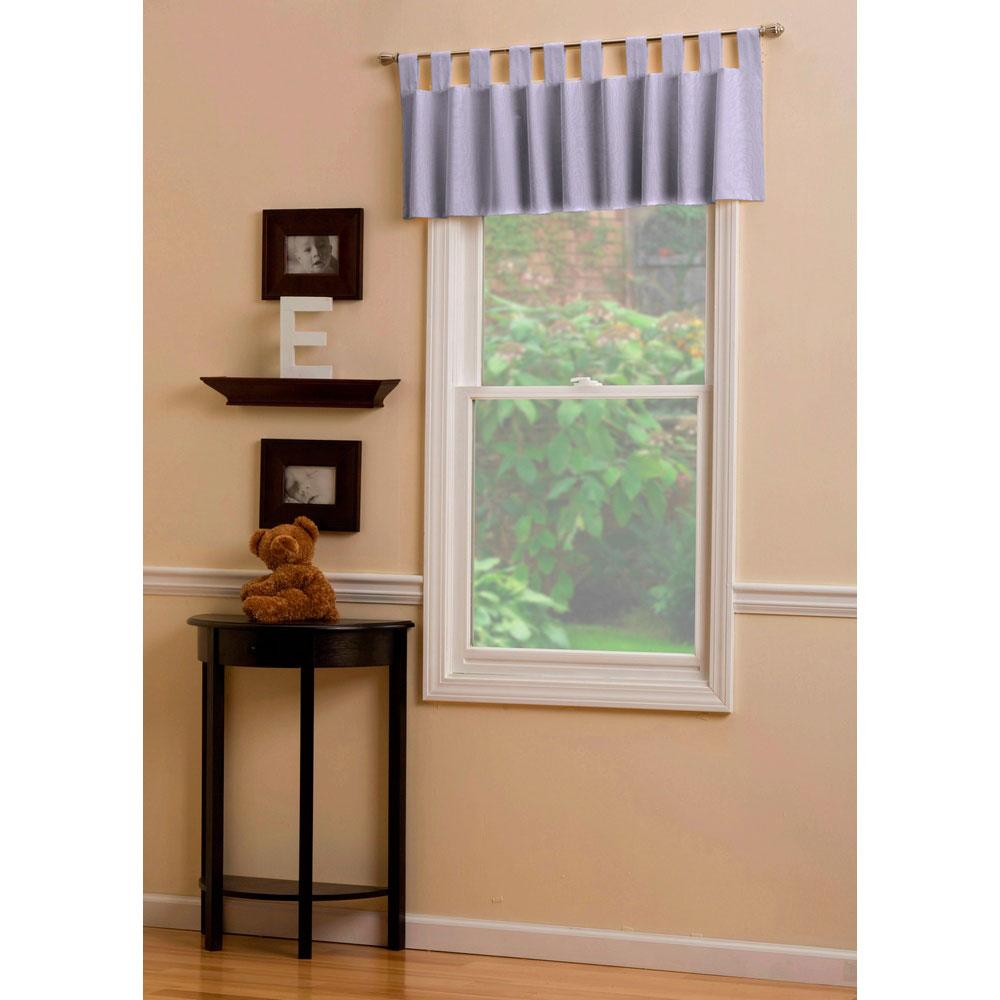 Product image for Solid Lilac Window Valance Tab-Top