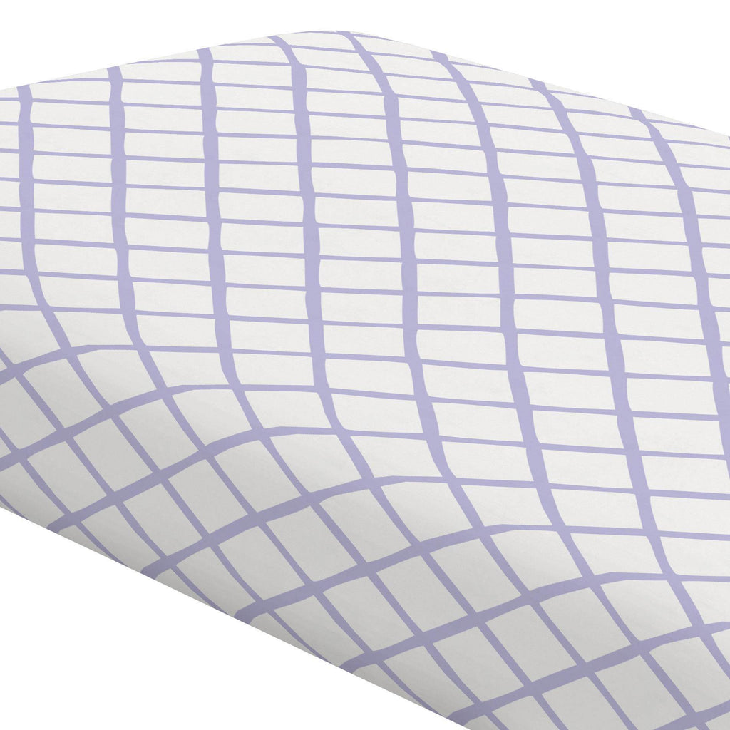 Product image for Lilac Trellis Crib Sheet