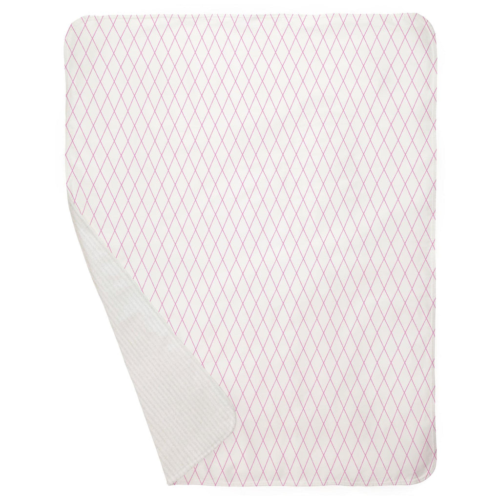 Product image for Hot Pink Princess Lattice Baby Blanket