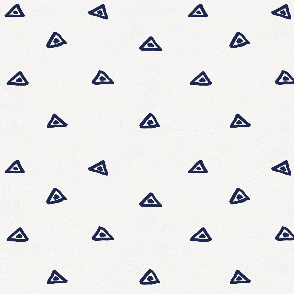 Product image for Navy Triangle Dots Crib Skirt Single-Pleat