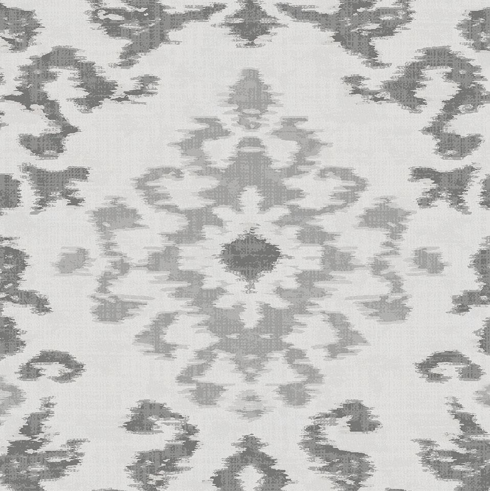Product image for Gray Ikat Damask Crib Skirt Gathered