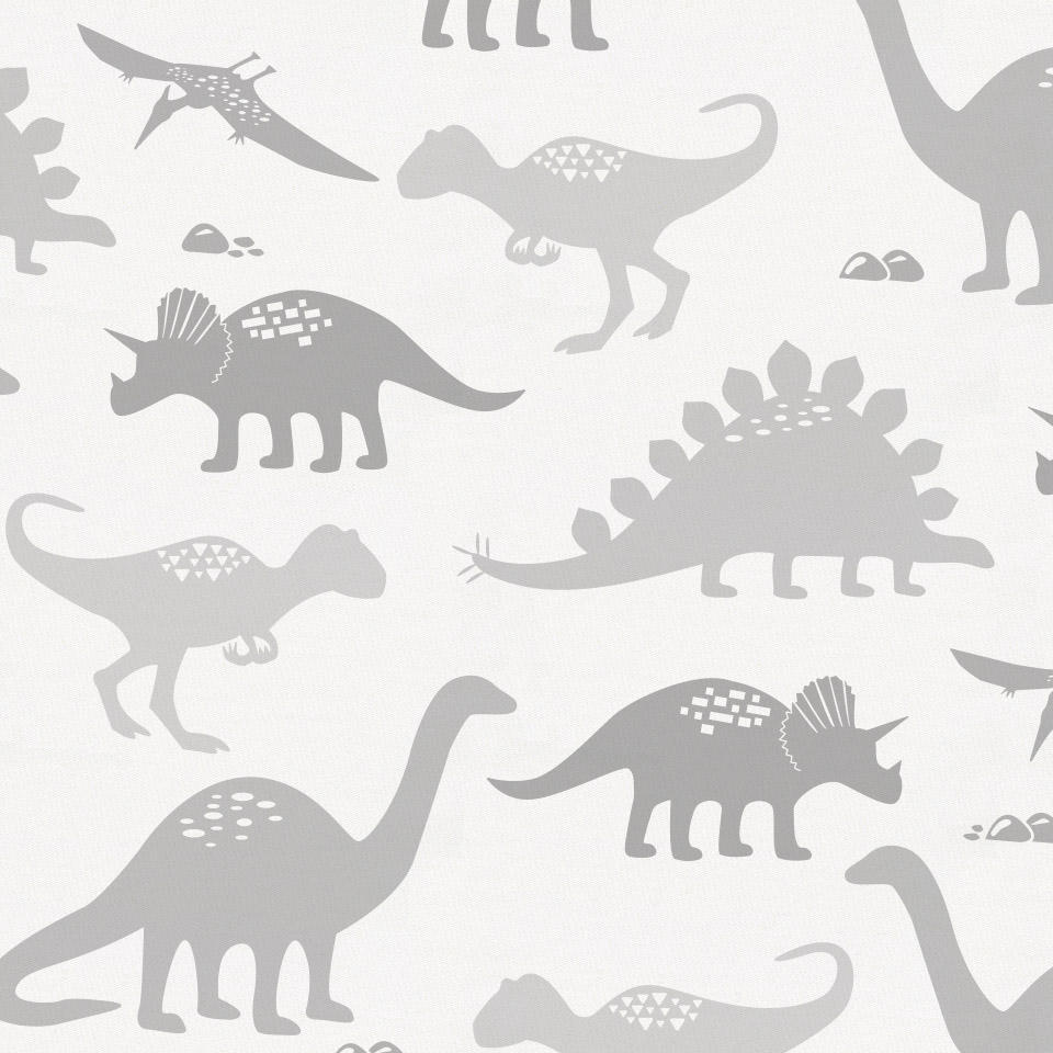 Product image for Gray Dinosaurs Crib Skirt Single-Pleat
