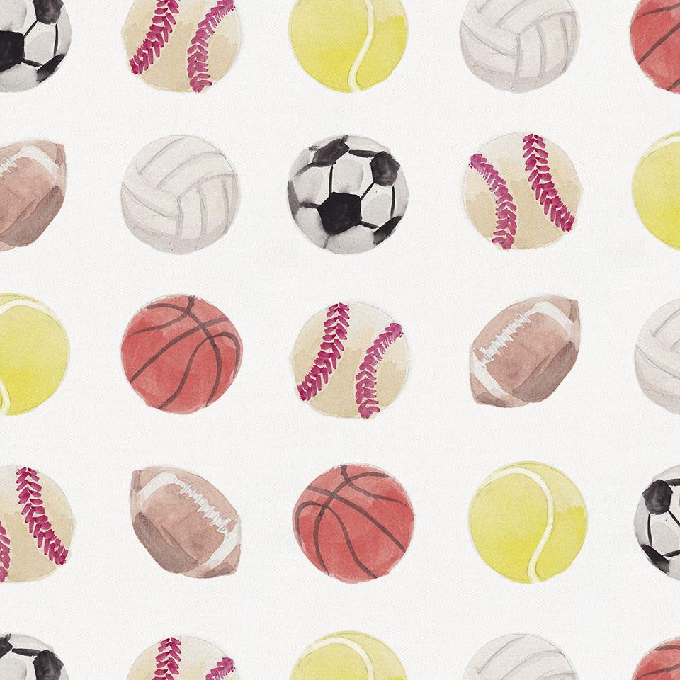 Product image for Watercolor Sports Crib Skirt Single-Pleat