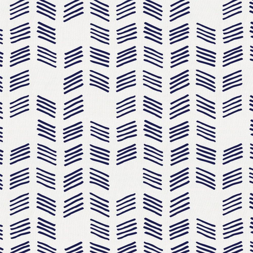 Product image for Windsor Navy Tribal Herringbone Crib Skirt Single-Pleat