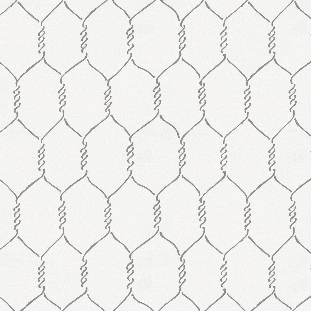 Product image for Gray Farmhouse Wire Crib Skirt Single-Pleat