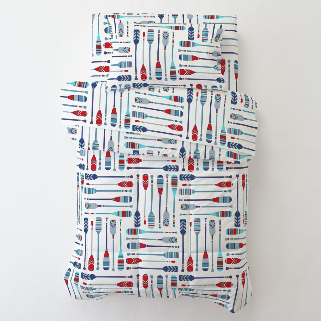 Product image for Red and Blue Oars Toddler Pillow Case