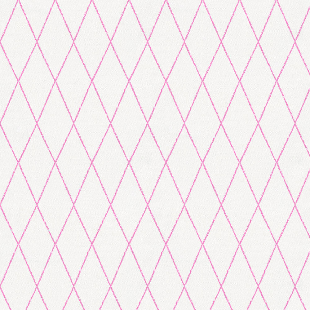 Product image for Hot Pink Princess Lattice Crib Skirt Gathered