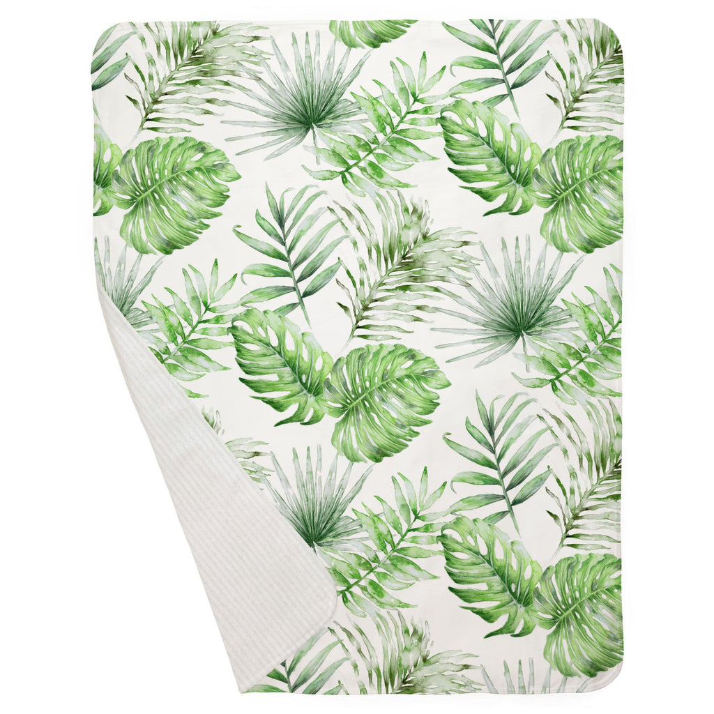 Product image for Green Painted Tropical Baby Blanket