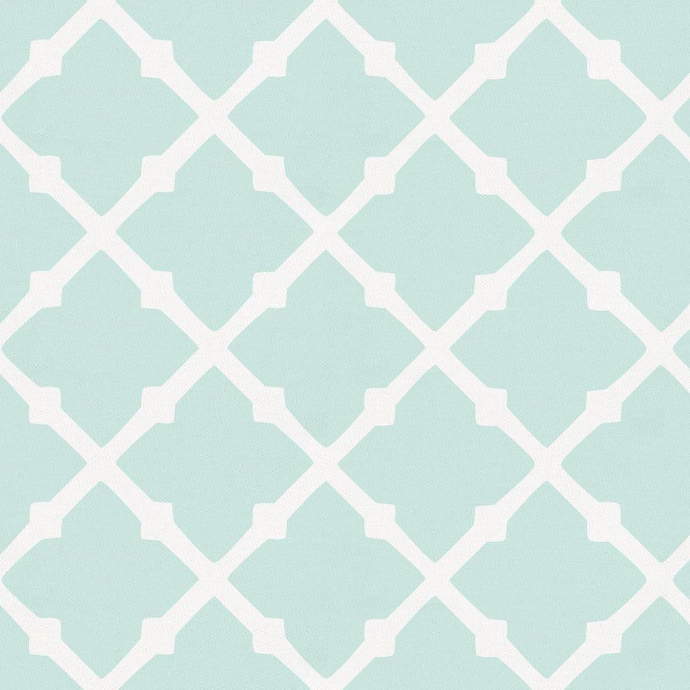 Product image for Icy Mint Lattice Crib Skirt Single-Pleat