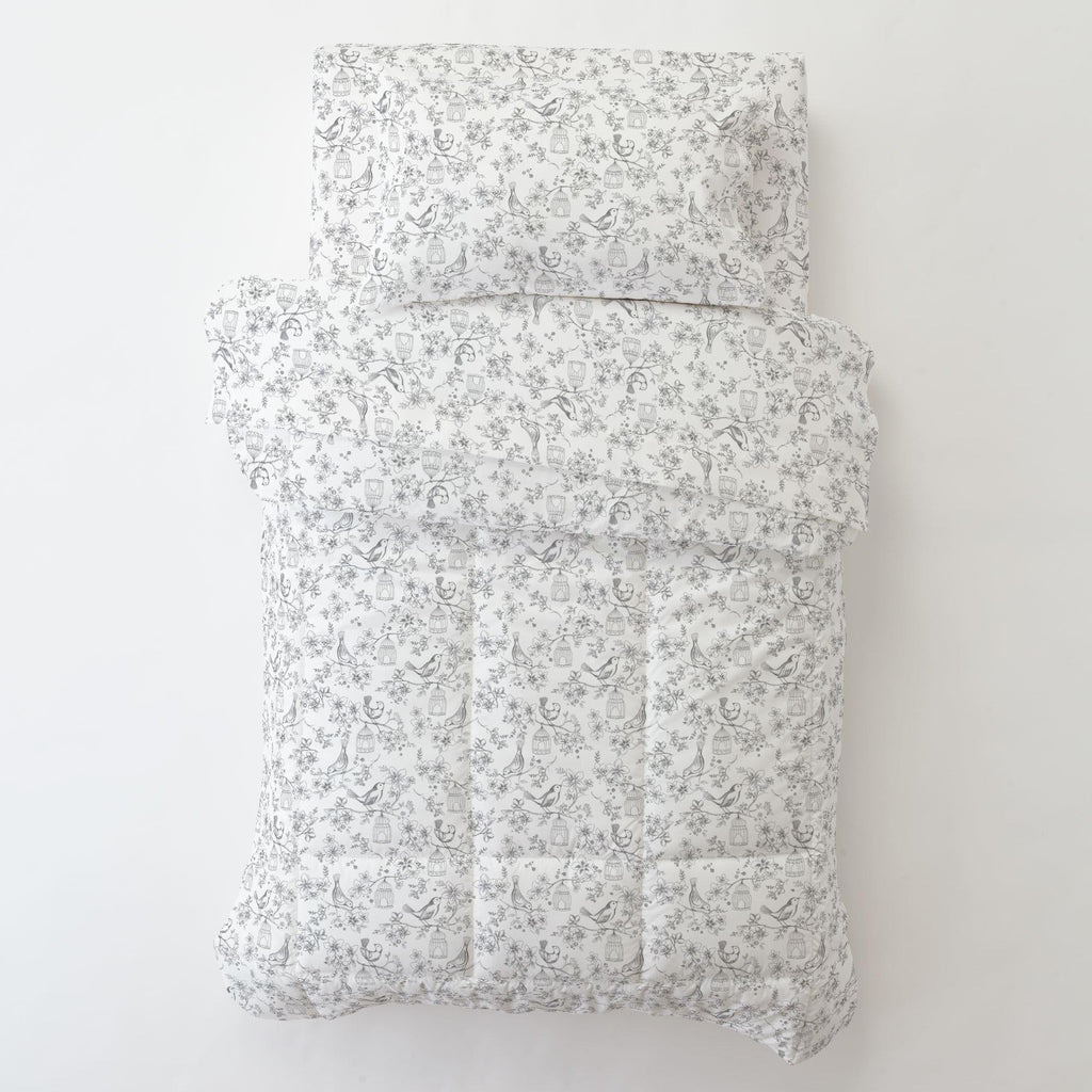 Product image for White and Gray Bird Cage Toddler Pillow Case