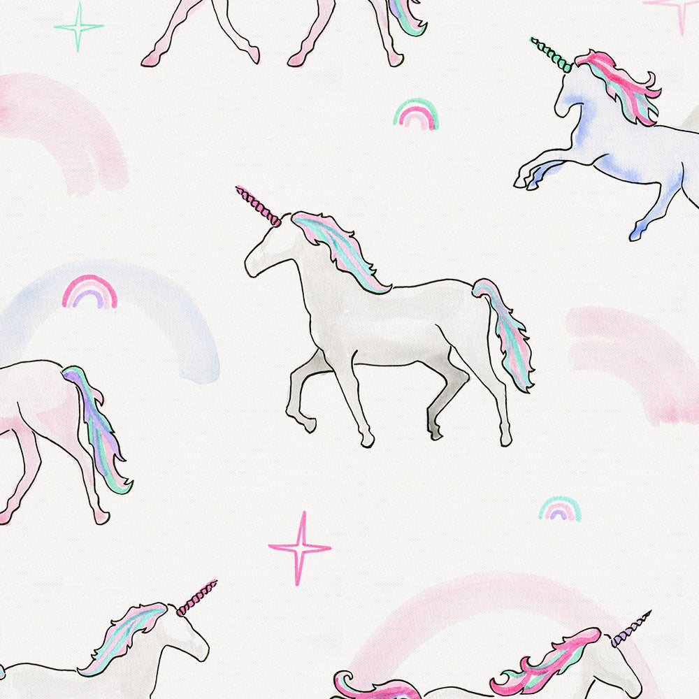 Product image for Watercolor Unicorns Toddler Pillow Case with Pillow Insert