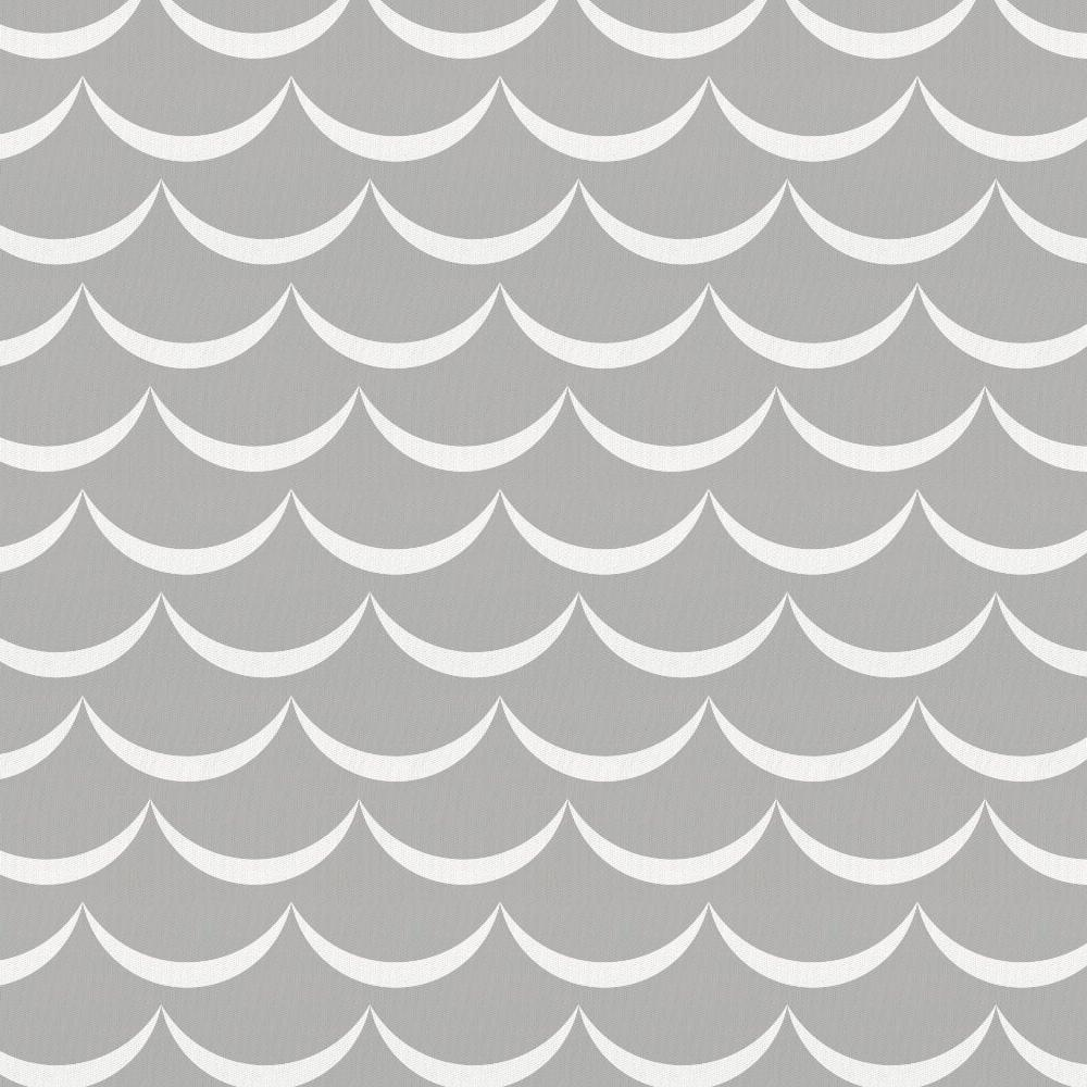 Product image for Silver Gray Waves Crib Skirt Gathered