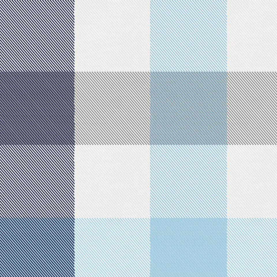 Product image for Navy and Lake Blue Buffalo Check Mini Crib Sheet