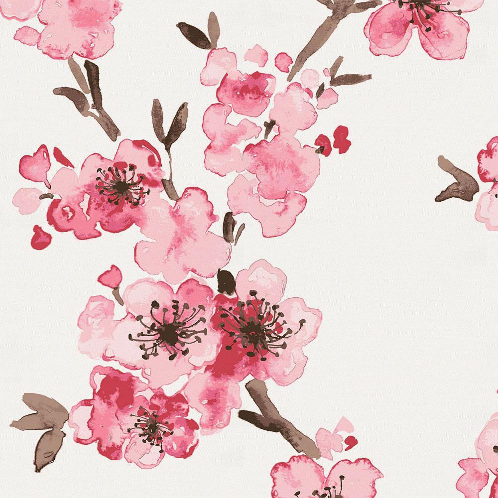 Product image for Pink Cherry Blossom Crib Skirt Gathered