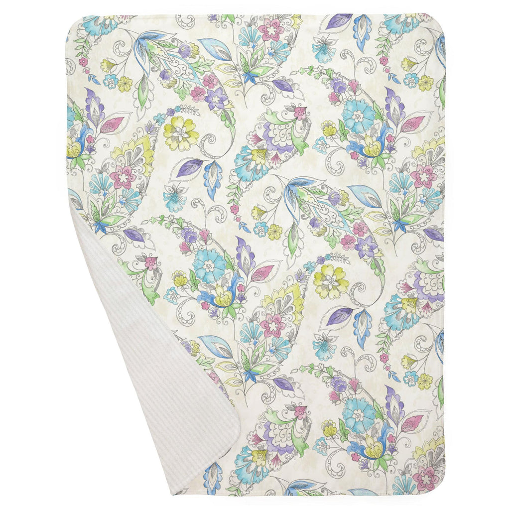 Product image for Sketchbook Floral Baby Blanket