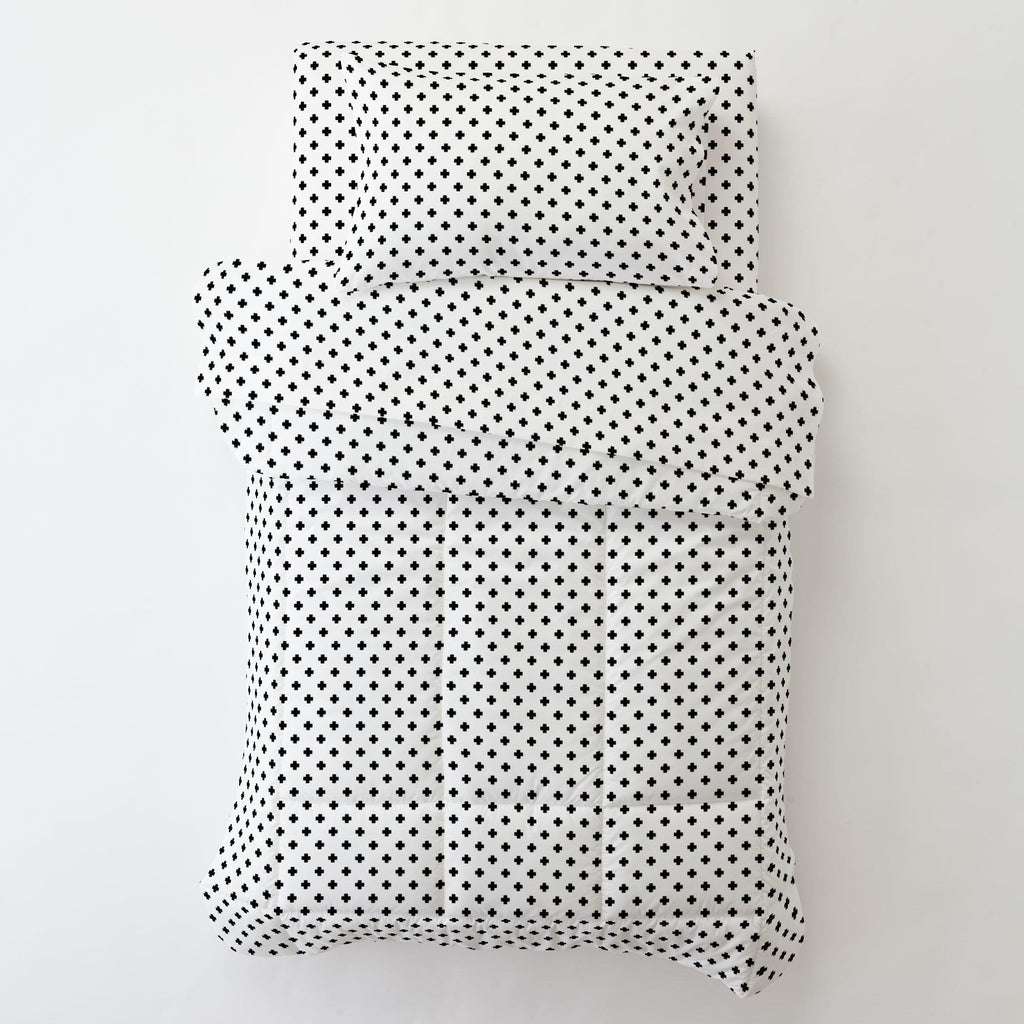 Product image for Onyx Mini Swiss Cross Toddler Pillow Case