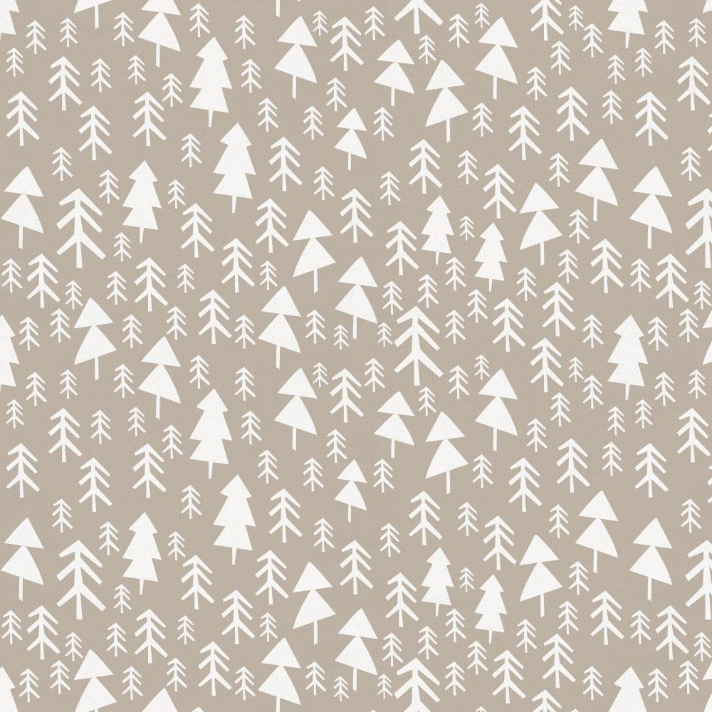 Product image for Taupe Baby Woodland Trees Crib Skirt Single-Pleat