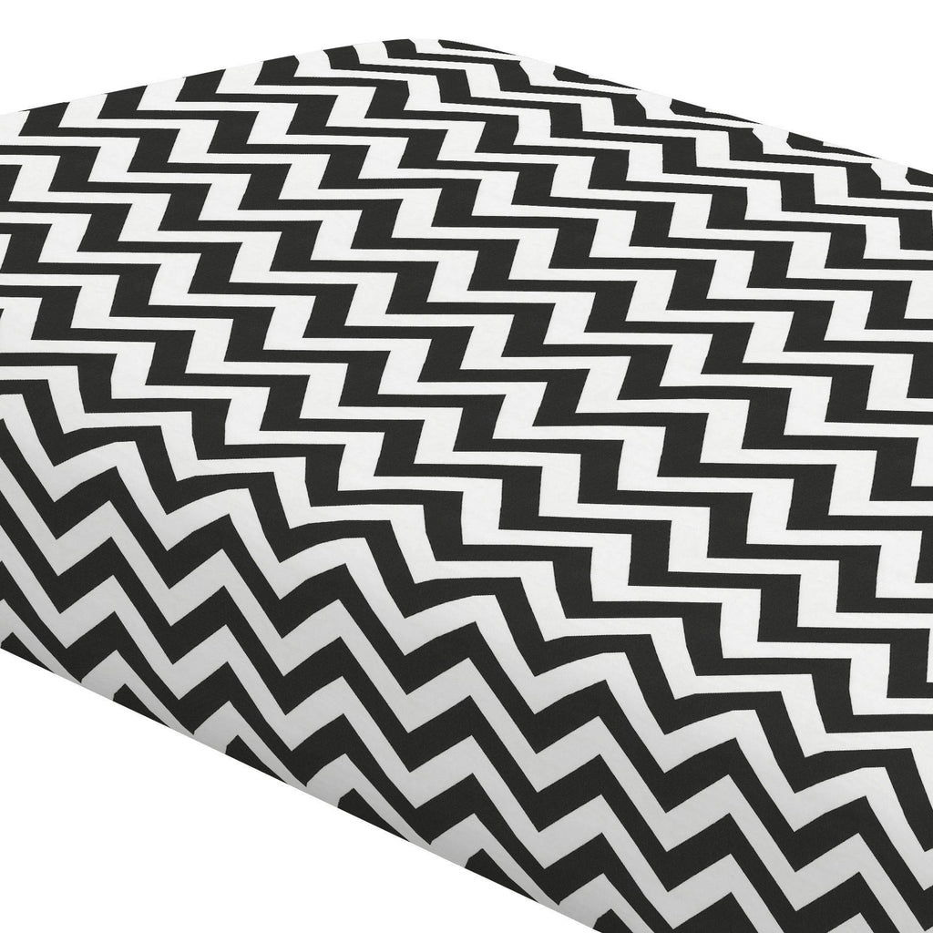 Product image for Black and White Zig Zag Crib Sheet