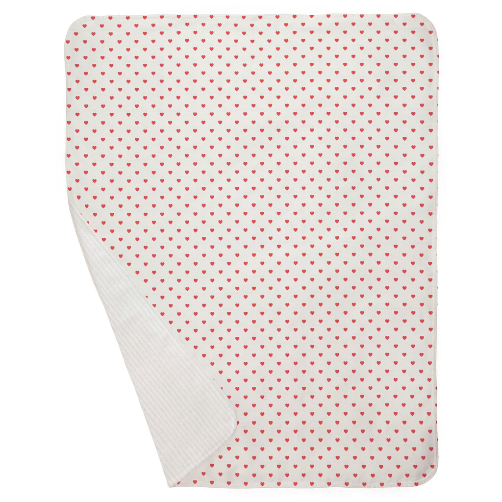 Product image for Coral Hearts Baby Blanket