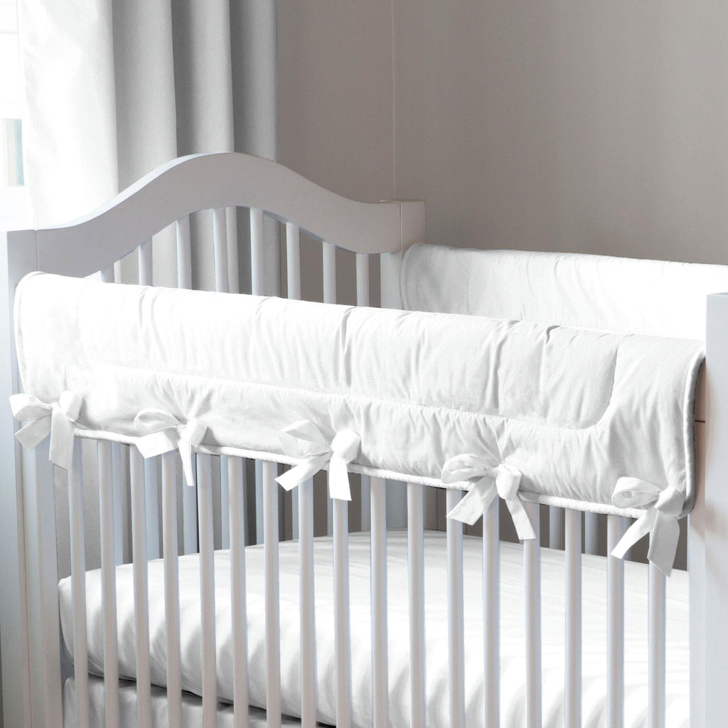 Product image for White Pique Crib Rail Cover