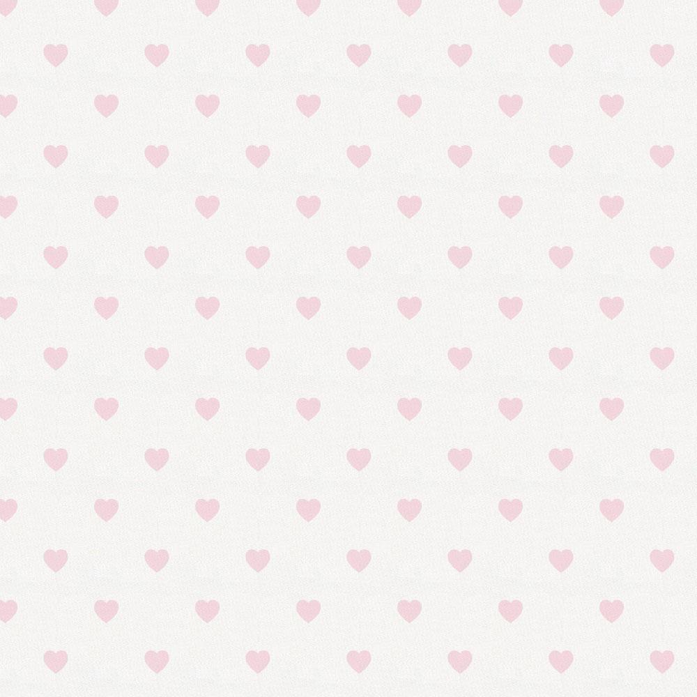 Product image for Pink Hearts Crib Skirt Single-Pleat