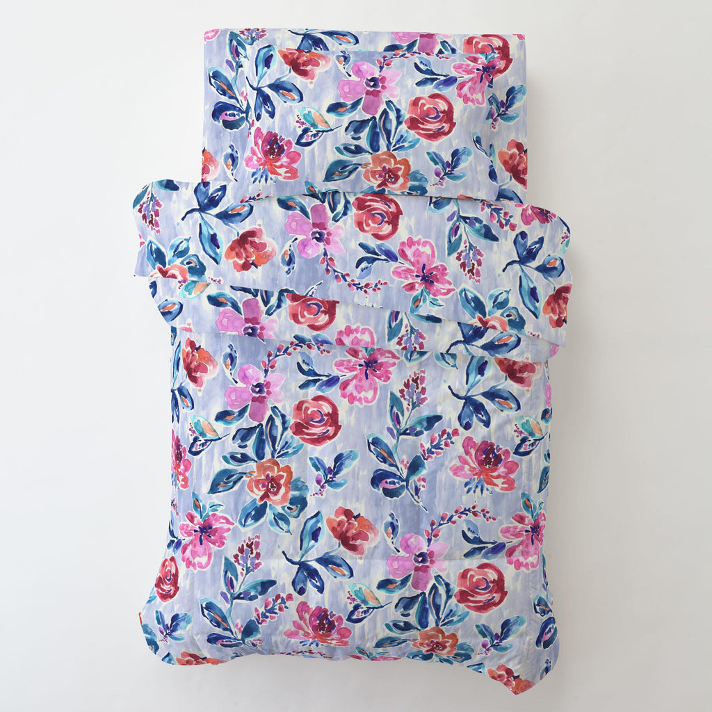 Product image for Pink and Lavender Garden Toddler Sheet Bottom Fitted