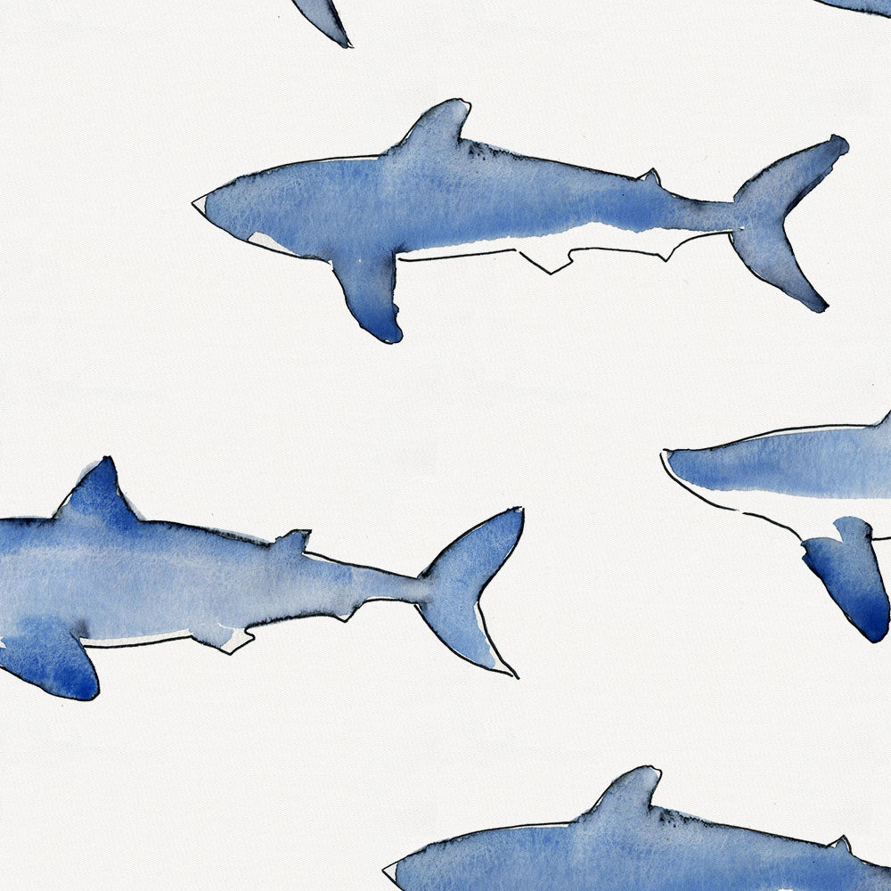 Product image for Blue Sharks Toddler Pillow Case with Pillow Insert