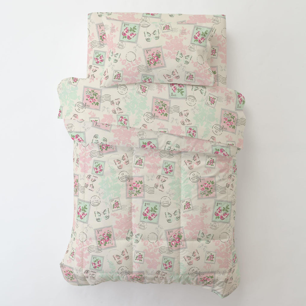 Product image for Blush and Ivory Vintage Stamp Toddler Pillow Case