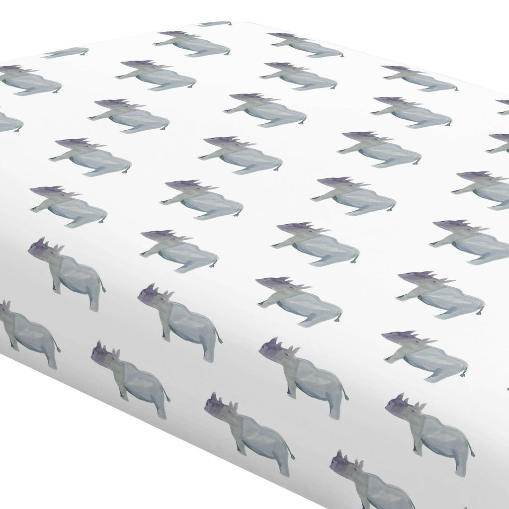 Product image for Painted Rhino Crib Sheet