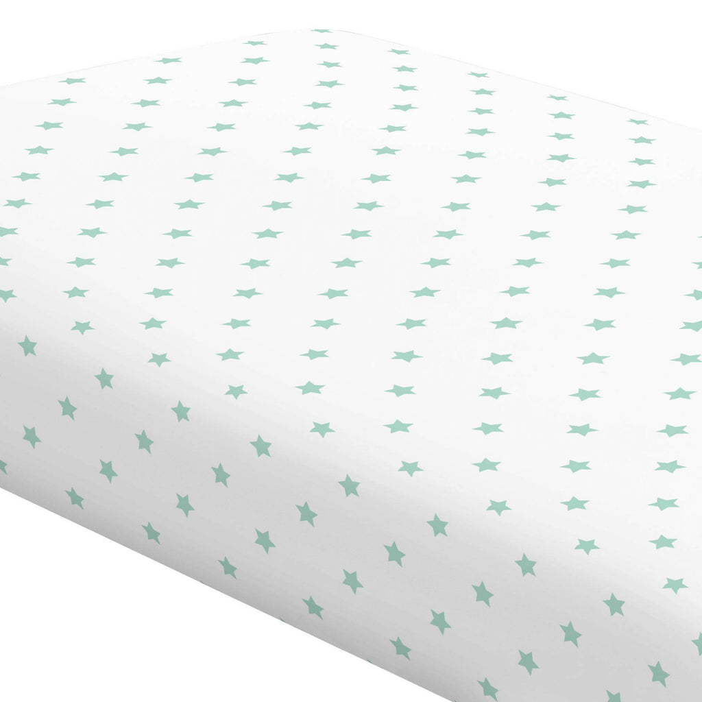 Product image for Mint Stars Crib Sheet