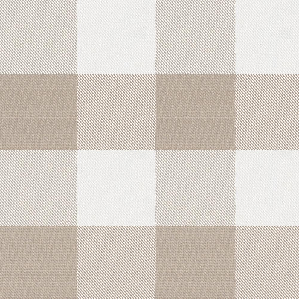 Product image for Taupe and White Buffalo Check Mini Crib Sheet