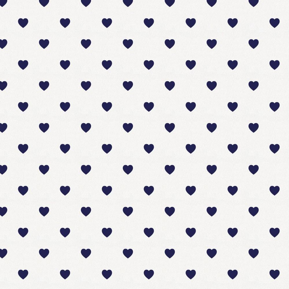 Product image for Windsor Navy Hearts Crib Skirt Gathered