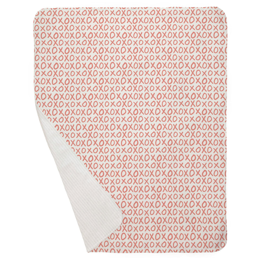 Product image for Light Coral XO Baby Blanket