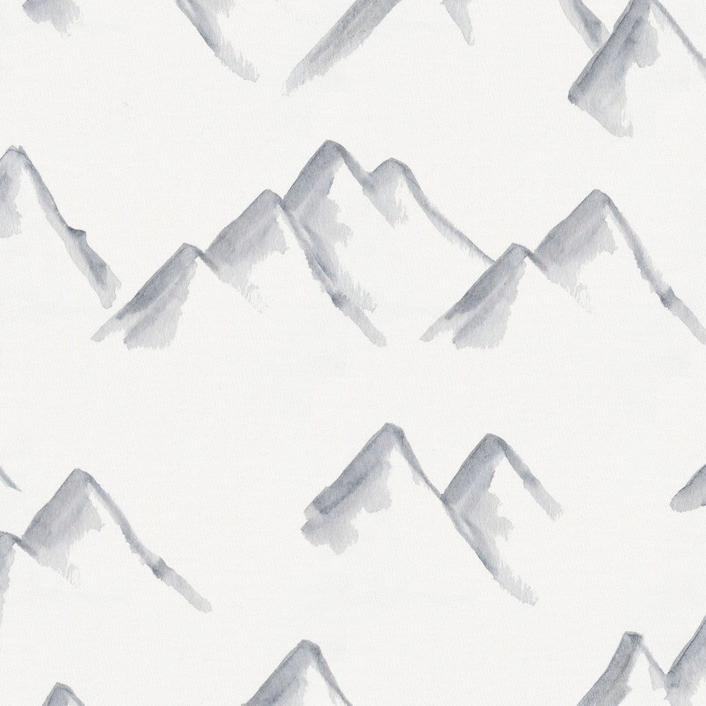 Product image for Watercolor Mountains Crib Skirt Gathered