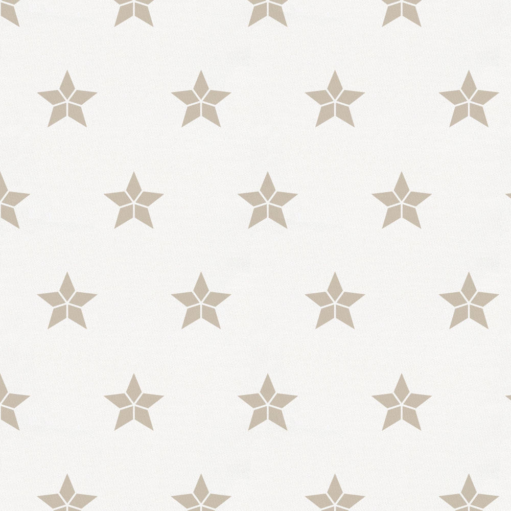 Product image for Taupe Mosaic Stars Crib Skirt Single-Pleat