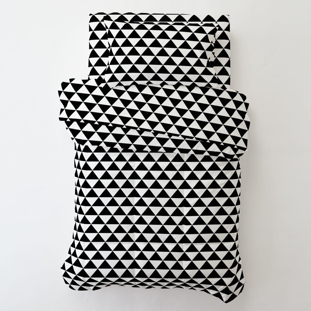 Product image for Onyx Triangle Stack Toddler Pillow Case