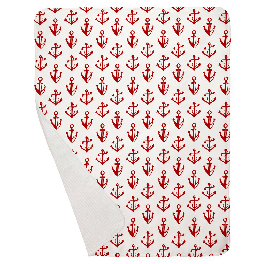 Product image for Red Anchors Baby Blanket