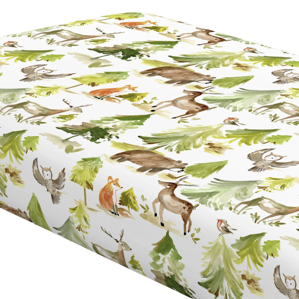 Product image for Painted Forest Crib Sheet