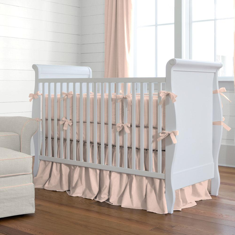Product image for Solid Peach Crib Bumper