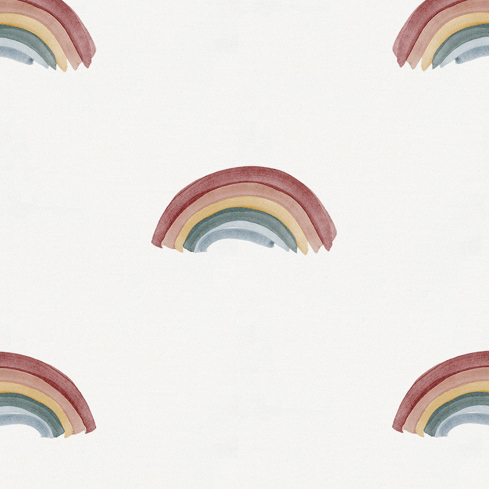 Product image for Soft Rainbows Crib Skirt Gathered