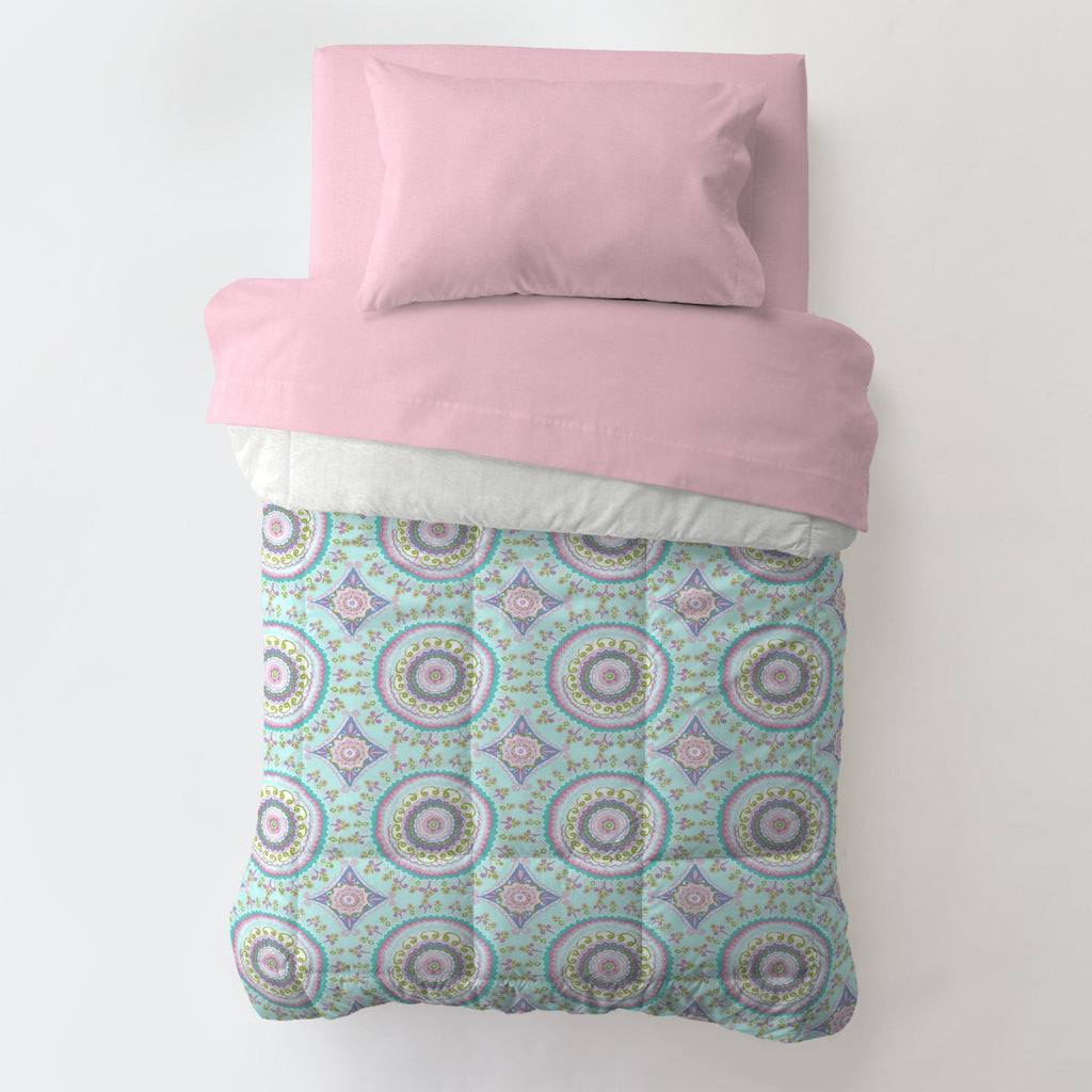 Product image for Aqua Haute Circles Toddler Comforter